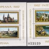ROMANIA 1982 LP 1053 COLABORAREA CULTURAL ECONOMICA INTEREUROPEANA 2 BLOCURI MNH - Timbre Romania, Nestampilat