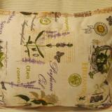 Pernuta decorativa bumbac imprimat Floare de Soare (galben) - Perna