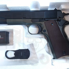 Replica Colt 1911 Green Gas Olive [KJWORKS] - Arma Airsoft