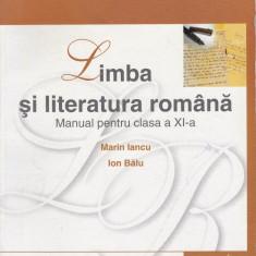 Manual de Limba si Literatura Romana, clasa a 11-a, a XI-a, autori Marin Iancu - Manual scolar corint, Clasa 11, Corint