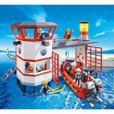 Statia de salvamari cu farul luminos Playmobil