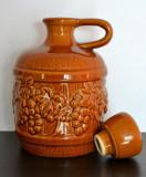Carafa, vas ceramic mare, model cu struguri , 2L - 25.5cm #418
