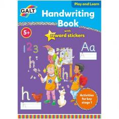 Carte cu Abtibilduri Scrisul de Mana - Carte de colorat