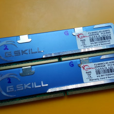 Kit 4GB DDR2 Desktop, 2x2GB, G.SKILL, 1000Mhz, PC2-8000, Radiator, CL5(2) - Memorie RAM G.Skill, 1066 mhz, Dual channel