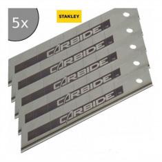 Set 5 lame segmentate FatMax cu carbura Tungsten 18 mm STANLEY - Cutter