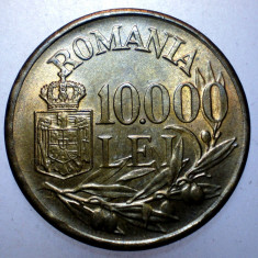 2.114 ROMANIA MIHAI I 10000 LEI 1947 XF punct proeminent 10.000 - Moneda Romania, Alama
