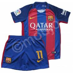 Compleu Echipament FOTBAL FC BARCELONA MODEL 2017 MESSI NEYMAR 4-6 ani - Set echipament fotbal Nike, Marime: YXS
