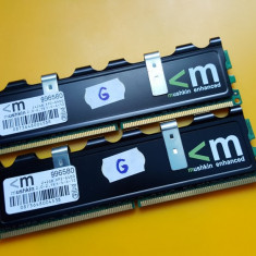 Kit 4GB DDR2 Desktop, 2x2GB, Mushkin, 800Mhz, Radiator, PC2-6400, CL4 - Memorie RAM Mushkin, Dual channel
