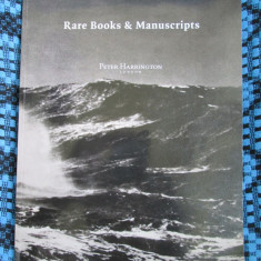 RARE BOOKS AND MANUSCRIPTS - Peter HARRINGTON (London 2017, CATALOG CARTI RARE!)