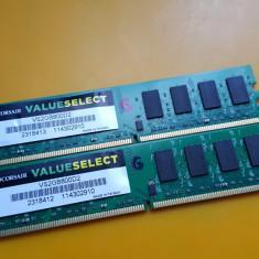 Kit 4GB DDR2 Desktop, 2x2GB, Corsair, 800Mhz, PC2-6400, CL5 - Memorie RAM Corsair, Dual channel
