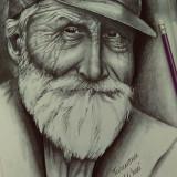 Desen creion. tablou creion . portet creion :) - Pictor roman, Portrete, Pastel, Realism