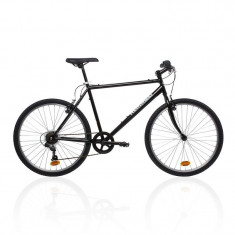 Bicicleta barbati Btwin Kemmel Mountain Bike - Bicicleta de oras, 19.5 inch, 26 inch, Numar viteze: 7