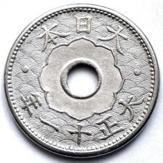JAPONIA IMPERIALA, Taishō (1912-1926), 10 SEN 1923, Asia, Crom