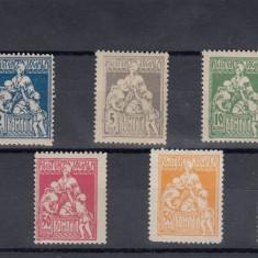 ROMANIA 1921  ASISTENTA SOCIALA - INFIRMIERA  SERIE  MNH