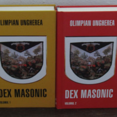 DEX MASONIC-OLIMPIAN UNGHEREA ( 2 VOLUME, CARTONATE ) - Carte masonerie