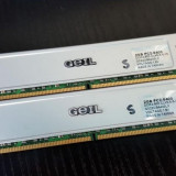 Kit 4GB DDR2 Desktop,2x2GB Brand GEIL cu Radiator,800Mhz,CL5,PC2-6400