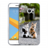 Husa HTC 10 Silicon Gel Tpu Model Kitties - Husa Telefon