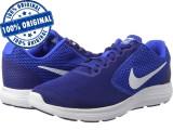 Pantofi sport Nike Revolution 3 pentru barbati - adidasi originali - alergare, 44, 44.5, Albastru, Textil