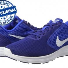 Pantofi sport Nike Revolution 3 pentru barbati - adidasi originali - alergare - Adidasi barbati Nike, Marime: 44, 44.5, 45, Culoare: Albastru, Textil
