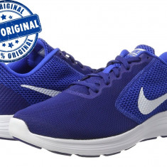 Pantofi sport Nike Revolution 3 pentru barbati - adidasi originali - alergare - Adidasi barbati Nike, Marime: 42, 44, 44.5, 45, Culoare: Albastru, Textil