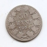 Romania 50 Bani 1894 – Carol I, Argint 2.5g/835, MV1-3 , 18.6 mm KM-23