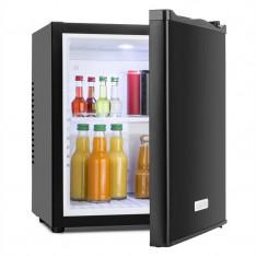 Klarstein MKS-10, 19 l, neagră, minibar, mini frigider, frigider de cameră, clasa de energie A, Independent, Numar usi: 1, Negru