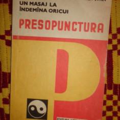 Presopunctura la indemana oricui an 1992/193pag//144figuri- Sabin Ivan - Carte Recuperare medicala