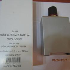 PARFUM TESTER TERRE D HERMES METAL FLACON-100 ML -SUPER PRET, SUPER CALITATE! - Parfum barbati Hermes, Altul