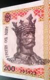 Bancnota 200 LEI- Republica MOLDOVA, anul 2015 *cod 32 UNC SERIE 3 CIFRE