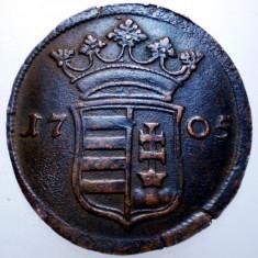 G.013 UNGARIA RAKOCZI PRO LIBERTATE X 10 POLTURA 1705 - Moneda Medievala, Europa