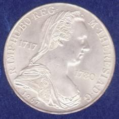 (2) MONEDA DIN ARGINT AUSTRIA - 25 SCHILLING 1967, MARIA THERESIA, 13 GR., Europa