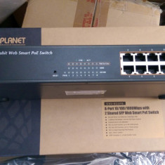 Switch Alta Gigabit cu POE si SFP Planet GSD-802PS