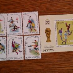 1981  LP 1046-7 CAMPIONATUL MONDIAL DE FOTBAL  SPANIA'82, Nestampilat