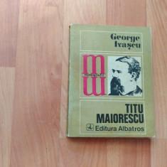 TITU MAIORESCU-GEORGE IVASCU