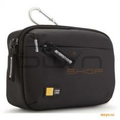 Husa camera foto/video Case Logic, buzunar frontal, carabina, nylon, black 'TBC403K' - Husa Camera Video