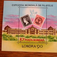 1990  LP 1236 EXPOZITIA MONDIALA DE FILATELIE LONDRA'90