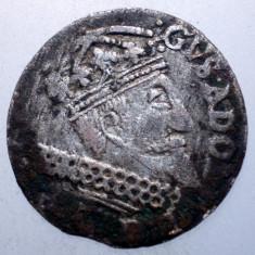 G.322 POLONIA ELBING OCUPATIE SUEDEZA GUSTAV ADOLF II 3 GROSCHEN 166? ARGINT - Moneda Medievala, Europa, An: 1624