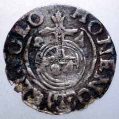 G.321 POLONIA SIGISMUND III VASA 3 POLKER 1624 ARGINT 1, 0g - Moneda Medievala, Europa