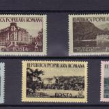 ROMANIA 1954  LP 361  CASE DE ODIHNA  SERIE MNH