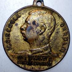 R.005 MEDALIE ROMANIA REGELE CAROL II LIGA APARAREI CONTRA ATACURILOR AERIENE - Medalii Romania, An: 1952