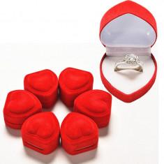 Cutie pentru inel logodna, casatorie, in forma de inima, cadou inedit, deosebit - Cutie Bijuterii