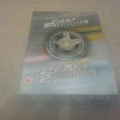 Fast and Furious + 2 Fast 2 Furious - DVD [B] - Film serial, SF, Engleza