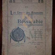 ION G. PELIVAN - LES DROITS FR ROUMAINS SUR LA BESSARABIE, PARIS 1920 - Carte Drept comercial