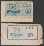 Romania 1948-1949 - 2 timbre fiscale culturale Editura de Stat, format diferit