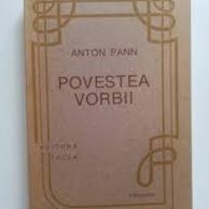 Anton pann povestea vorbii