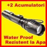 Lanterna Vanatoare-Pescuit Led Cree Xml T6 Cu 2 Acumulatori Reincarcabili