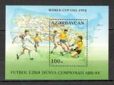 Azerbaidjan.1994 C.M. de fotbal SUA-Bl.  SA.650, Nestampilat