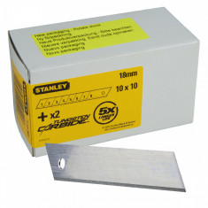 Set 100 lame segmentate de 18 mm STANLEY - Cutter