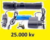 Lanterna cu electrosoc  incarcator auto si apartament
