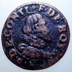 G.332 FRANTA FRANCOIS DE BOURBON PRINT DE CONTI DOUBLE TOURNOIS ND - Moneda Medievala, Europa